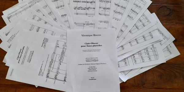 """Création / Concert de mon """"Clair-obscur pour Âmes plurielles"""" composé pour le Quatuor """"Les Solistes d'Avignon"""""""