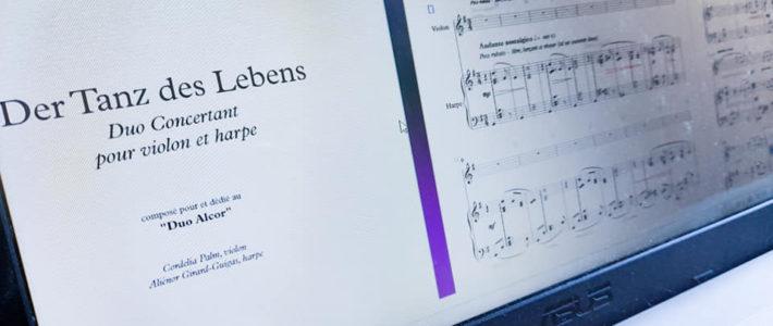 """Nouvelle pièce : """"Der Tanz des Lebens"""" pour le Duo Alcor (violon-harpe)"""