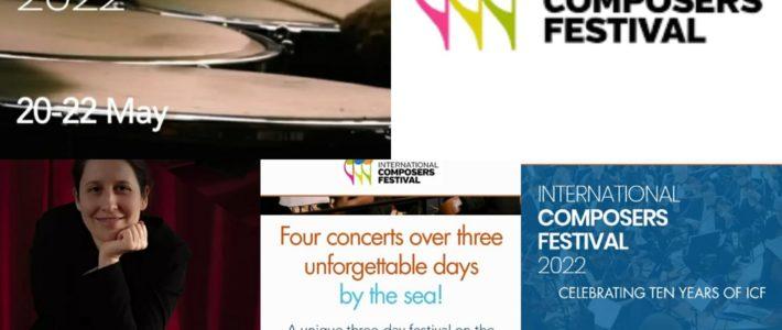 En concert (compositions) au International Composers Festival 2022 (Sussex, U.K)